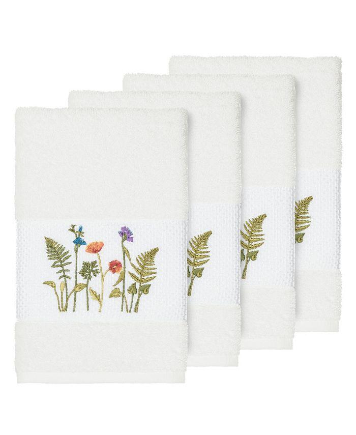 Linum Home - Turkish Cotton Serenity 4-Pc. Embellished Hand Towel Set