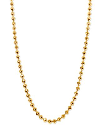 """20"""" Ball Chain Necklace in 14k Gold"""