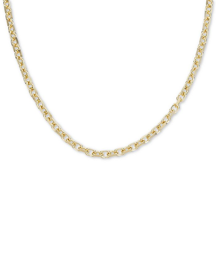 """Macy's - 24"""" Oval Rolo Chain Necklace in 18k Gold Over Sterling Silver"""