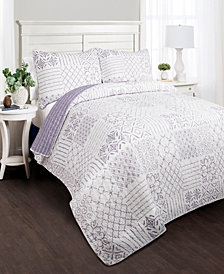 Monique Reversible 3-Piece Full/Queen Quilt Set