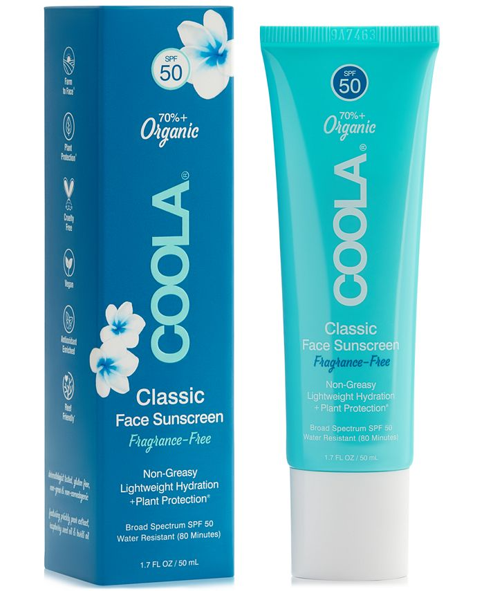 COOLA - Coola Fragrance-Free Classic Face Sunscreen SPF 50, 1.7-oz.