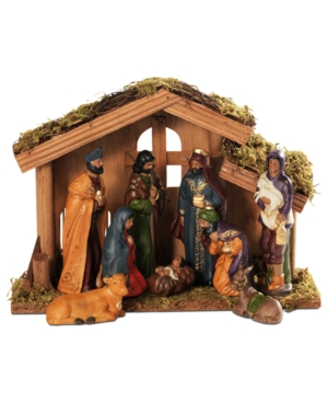 Elements Nativity Scene, Ethnic 9 Piece Set