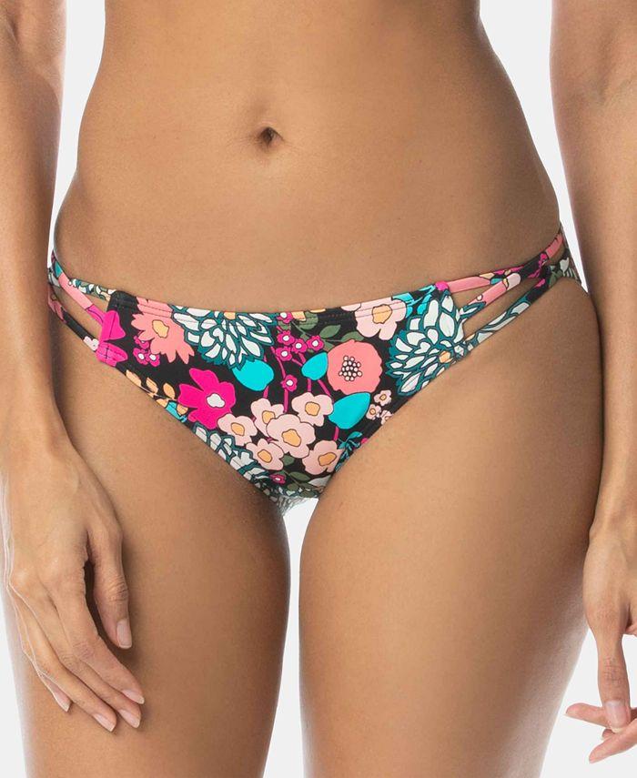 SUNDAZED - Printed Stunner Strappy Hipster Bikini Bottom