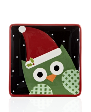 Christmas Cut-Outs Dinnerware, Set of 4 Owl Dessert Plates