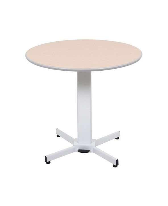 "Offex 42"" Pneumatic Height Adjustable Round Pedestal Table"