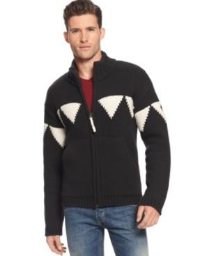 Armani Jeans Sweater, Full Zip Holiday Sweater