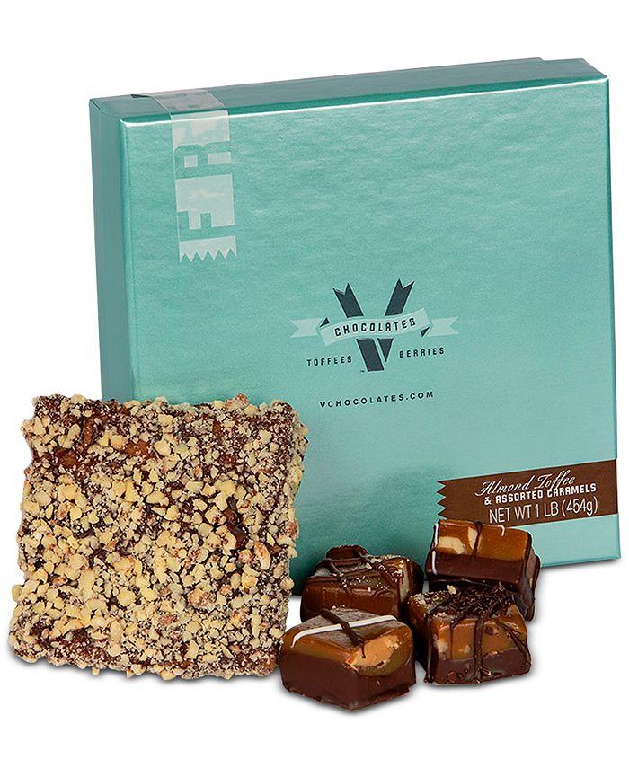 V Chocolates - 1-Lb Toffee Caramel Combo