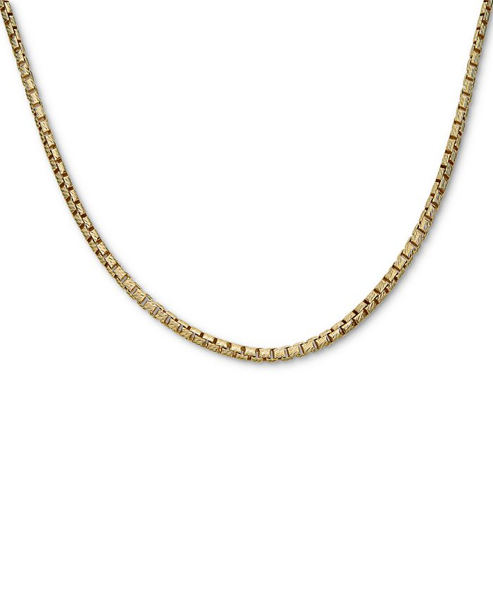 """Macy's - Box Link 24"""" Chain Necklace in 18k Gold-Plated Sterling Silver"""