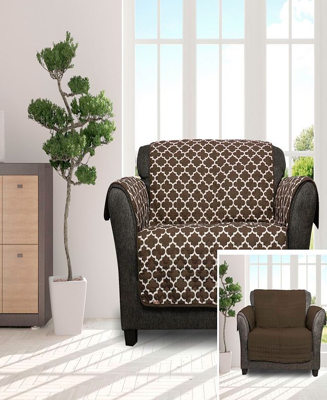"""Duck River Textile Coby 92"""" x 75"""" Reversible Water Resistant Loveseat Cover"""
