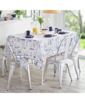 """Sail Away Stain Resistant Indoor Outdoor 60""""X 120"""" Tablecloth"""