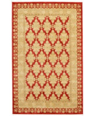 Orwyn Orw5 Red 5' x 8' Area Rug