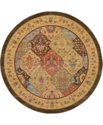 Orwyn Orw1 Multi 8' x 8' Round Area Rug