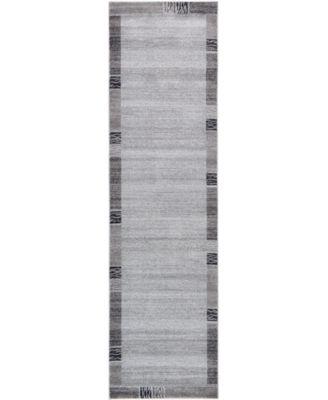 """Lyon Lyo1 Light Gray 2' 7"""" x 10' Runner Area Rug"""