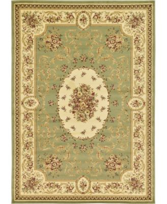 Belvoir Blv4 Green 7' x 10' Area Rug