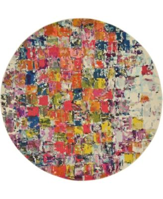 Newwolf New3 Multi 6' x 6' Round Area Rug