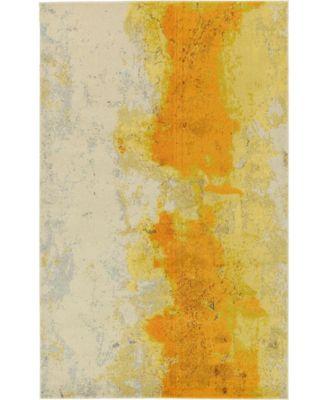 Newwolf New4 Yellow 5' x 8' Area Rug