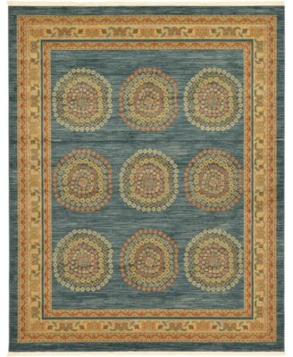 Ojas Oja2 Navy Blue 9' x 12' Area Rug