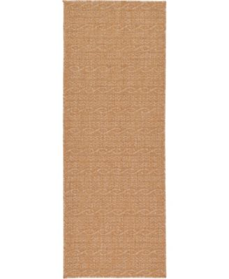 "Pashio Pas6 Light Brown 2' 2"" x 6' Runner Area Rug"
