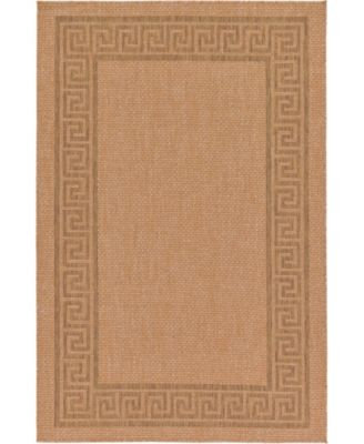 "Pashio Pas6 Light Brown 5' 3"" x 8' Area Rug"
