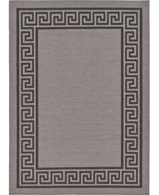 Pashio Pas6 Gray 7' x 10' Area Rug