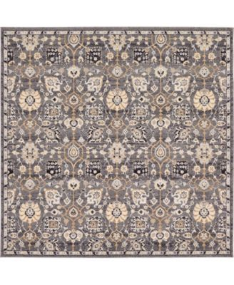 "Wisdom Wis1 Gray 8' 4"" x 8' 4"" Square Area Rug"