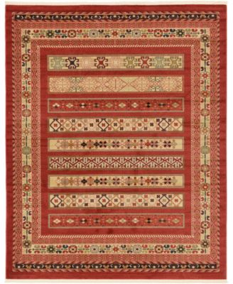 Ojas Oja4 Rust Red 6' x 9' Area Rug