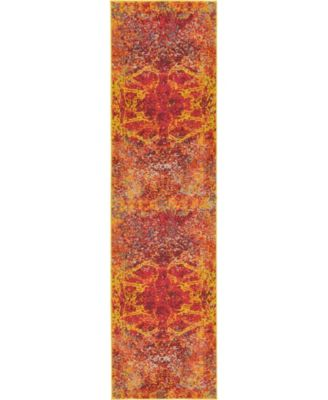 """Newwolf New3 Red 2' 7"""" x 10' Runner Area Rug"""