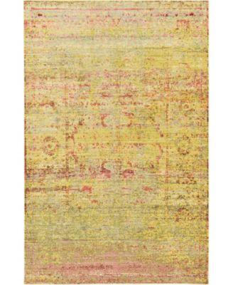 Malin Mal8 Yellow 5' x 8' Area Rug