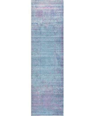 """Malin Mal8 Light Blue 2' 7"""" x 9' 10"""" Runner Area Rug"""