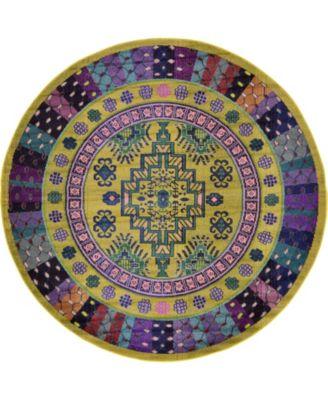 Sana San2 Gold 8' x 8' Round Area Rug