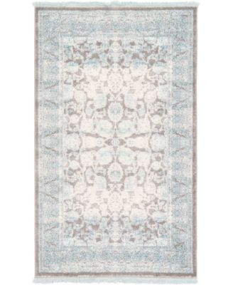 """Norston Nor3 Blue 3' 3"""" x 5' 3"""" Area Rug"""