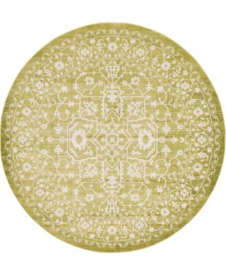 Norston Nor1 Light Green 8' x 8' Round Area Rug