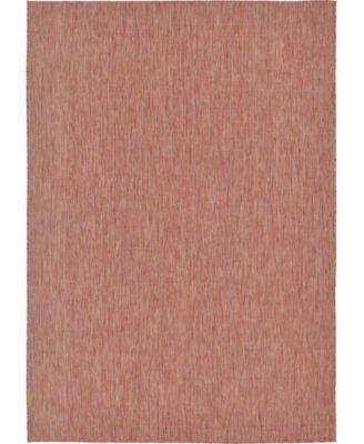 "Pashio Pas6 Rust Red 8' x 11' 4"" Area Rug"