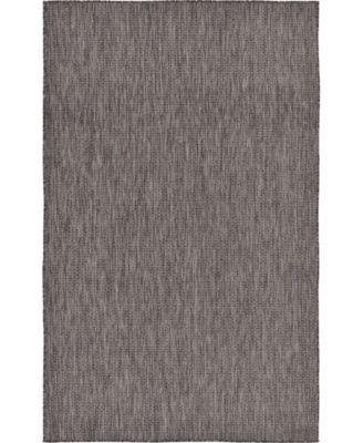 Pashio Pas6 Black 5' x 8' Area Rug