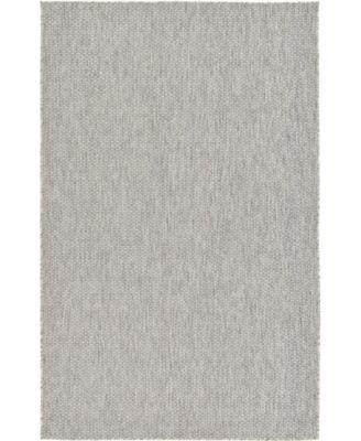 Pashio Pas6 Light Gray 5' x 8' Area Rug