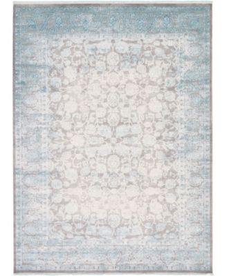 Norston Nor3 Blue 9' x 12' Area Rug