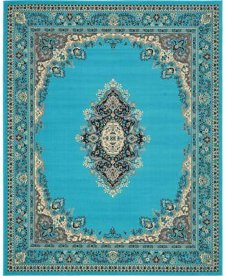 Birsu Bir1 Turquoise 8' x 10' Area Rug