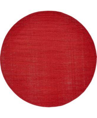 Axbridge Axb3 Red 5' x 5' Round Area Rug