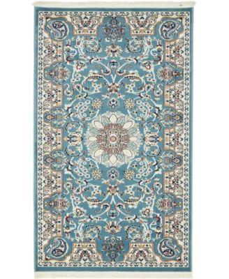 Zara Zar5 Blue 10' x 10' Round Area Rug