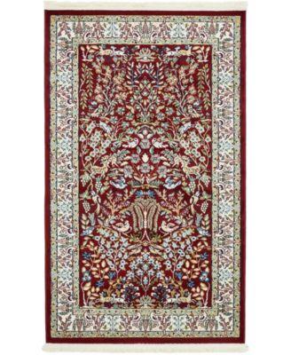 Zara Zar7 Burgundy 3' x 5' Area Rug