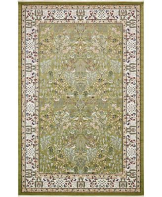 "Zara Zar7 Green 13' x 19' 8"" Area Rug"