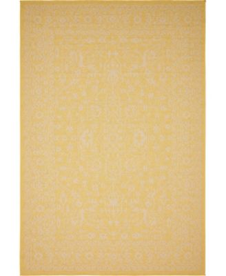 Pashio Pas6 Yellow 6' x 9' Area Rug