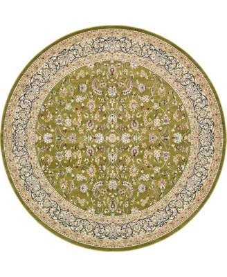 Zara Zar1 Green 10' x 10' Round Area Rug