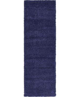 "Uno Uno1 Navy Blue 2' 2"" x 6' 7"" Runner Area Rug"