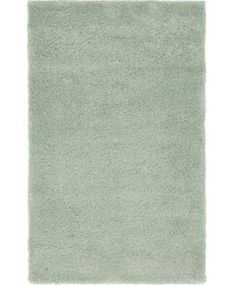 "Uno Uno1 Light Blue 3' 3"" x 5' 3"" Area Rug"