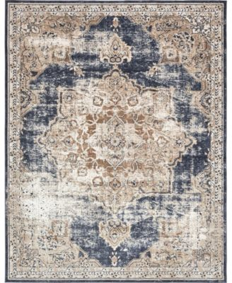 Odette Ode1 Dark Blue 5' x 8' Area Rug