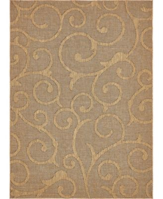 "Pashio Pas7 Light Brown 8' x 11' 4"" Area Rug"