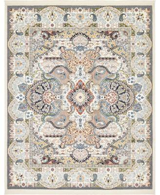Zara Zar2 Ivory 8' x 10' Area Rug
