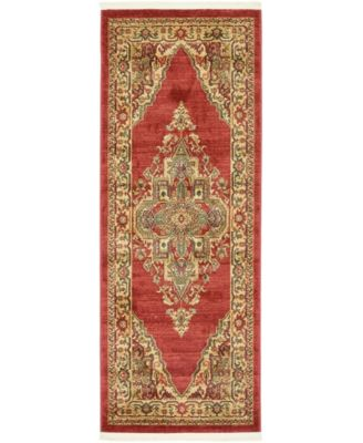 "Harik Har9 Red 2' 7"" x 6' 7"" Runner Area Rug"