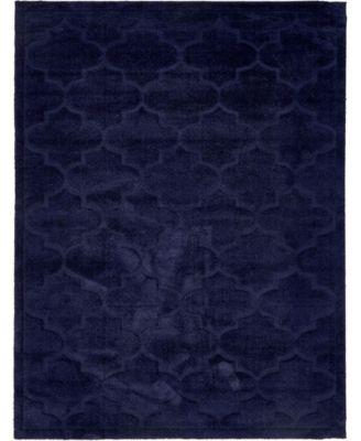 Filigree Shag Fil2 Navy Blue 9' x 12' Area Rug